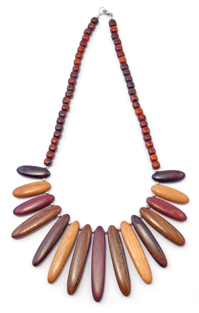 TICA SURF Unique tribal exotic wood necklace - Tribal Arrows Simple - EE401