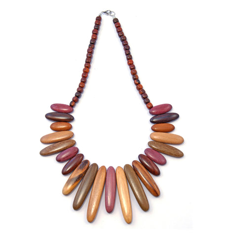 TICA SURF Unique tribal exotic wood necklace - Arrows
