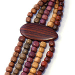 TICA SURF Unique tribal exotic wood necklace - Multi Beads - EE4131 - TicaSurf USA