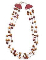 TICA SURF Unique tribal exotic wood necklace - Loose Beads Triangle - EE464