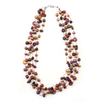 TICA SURF Unique fancy exotic wood necklace - Multicolor Micro Beads - EE505 - TicaSurf USA