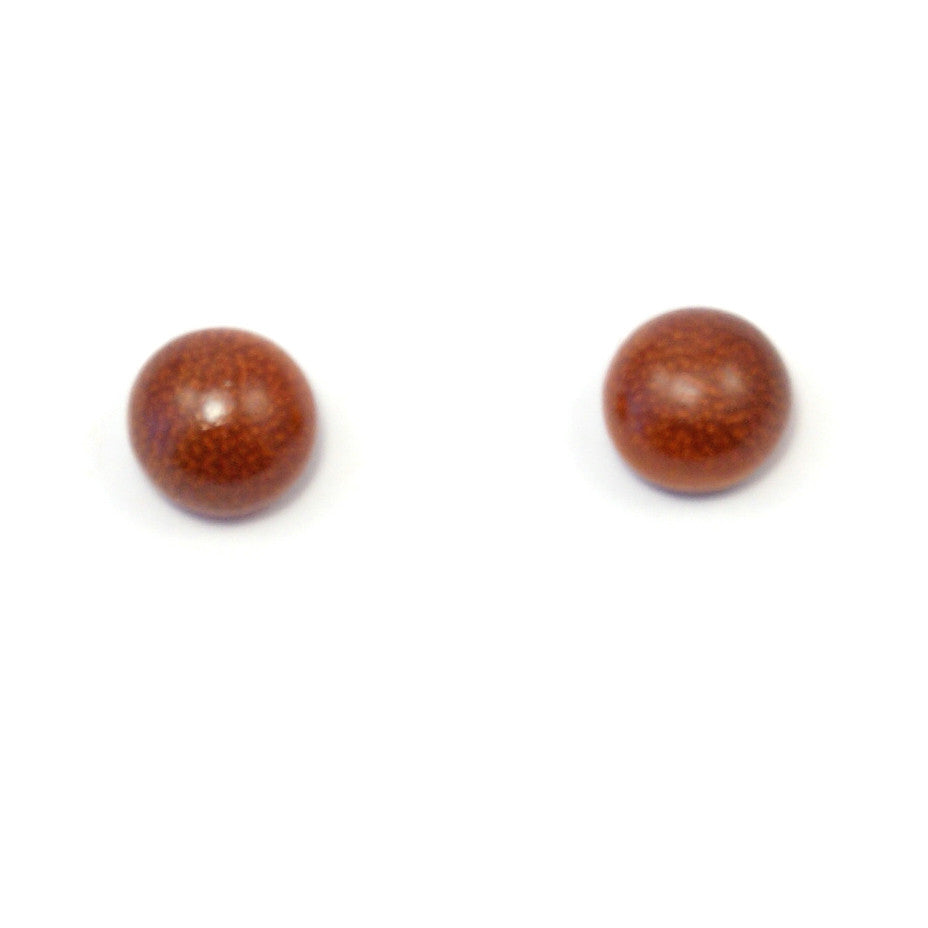 TICA SURF Unique exotic wood stud earrings - Simple Round Stud - EE1002 - TicaSurf USA