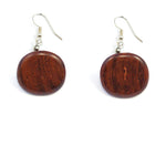 TICA SURF Unique exotic wood pendant earrings - Simple Flat Round Pendant - EE1015 - TicaSurf USA