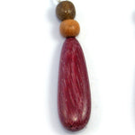 TICA SURF Unique exotic wood pendant earrings - Teardrop long - EE1019 - TicaSurf USA