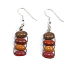 TICA SURF Unique exotic wood pendant earrings - Rope Ladder - EE1065