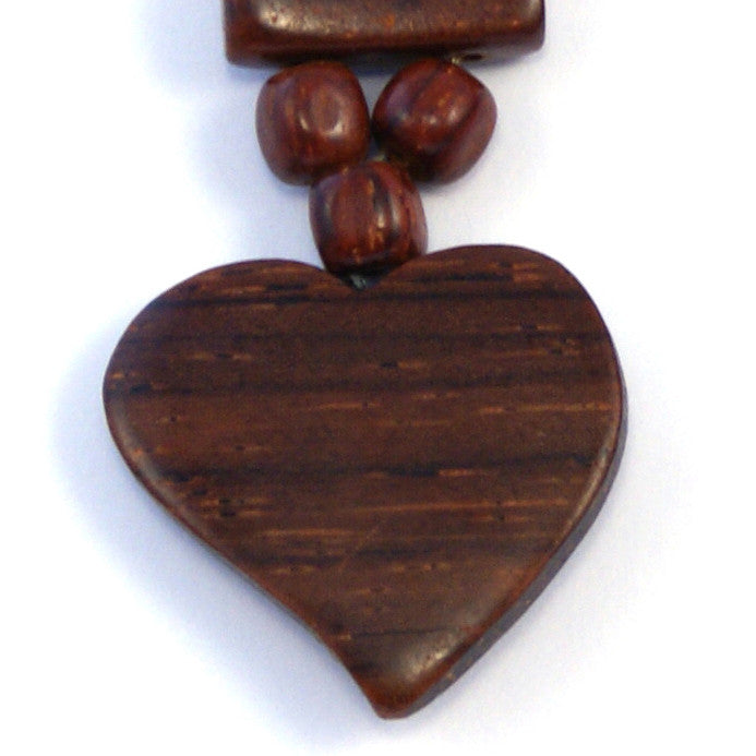 TICA SURF Unique exotic wood pendant earrings - Busy Hearts - EE1101 - TicaSurf USA