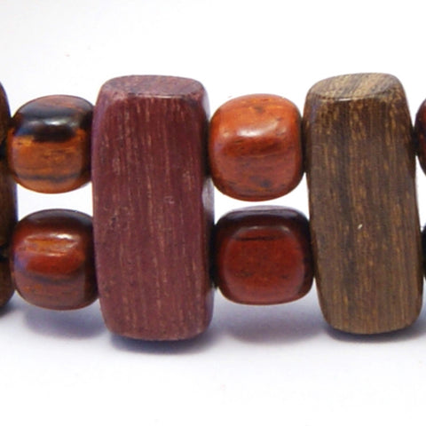 TICA SURF Unique exotic wood bracelet - Vertical bar S