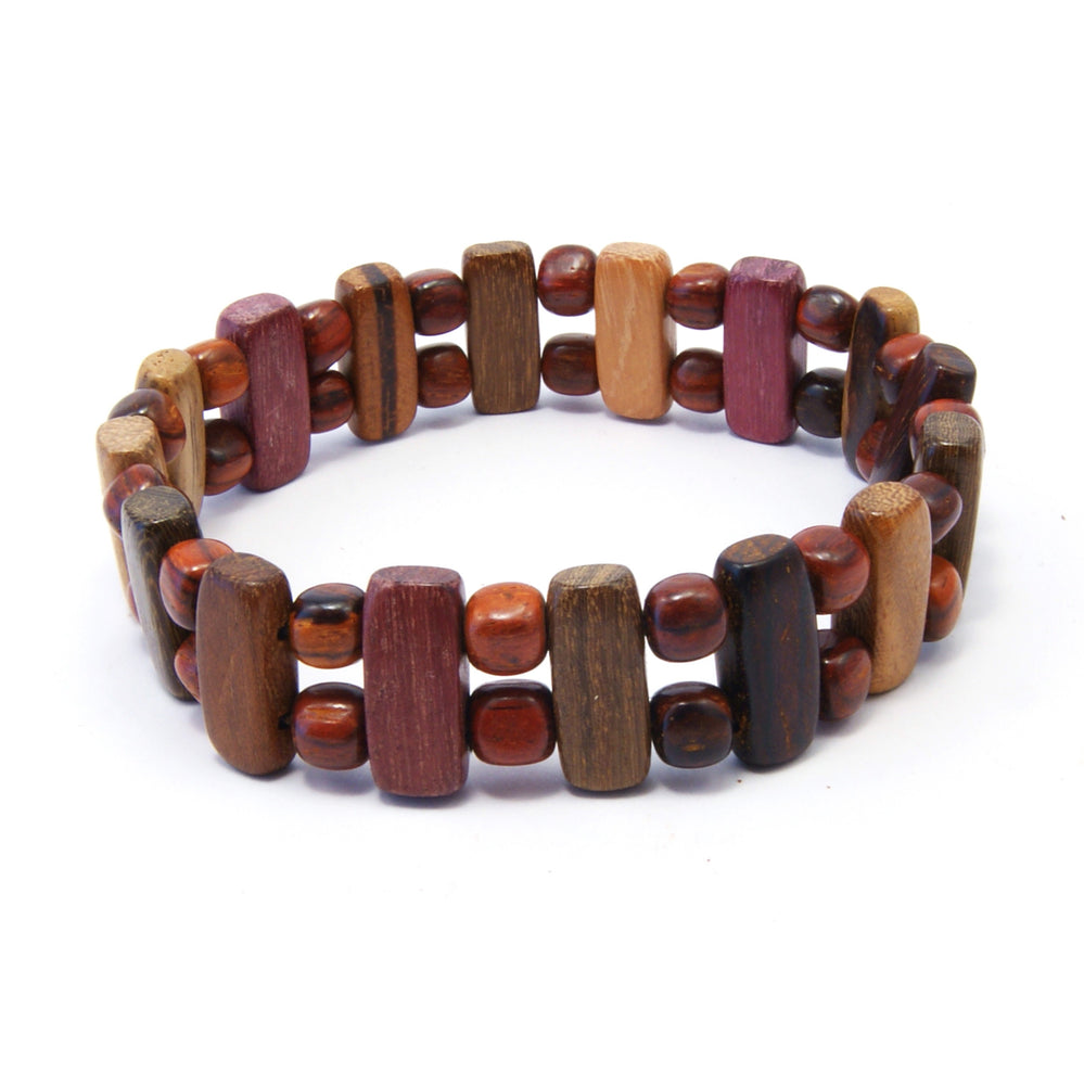 TICA SURF Unique exotic wood bracelet - Vertical bar S - EE1606 - TicaSurf USA