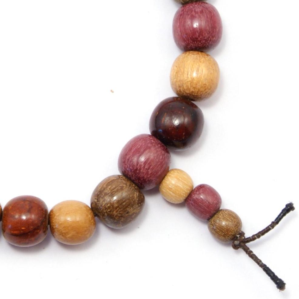 TICA SURF Unique exotic wood bracelet- Simple Beads Tail - EE1613