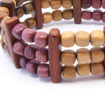 TICA SURF Unique exotic wood bracelet - Mini beads Bars M - EE1703