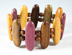 TICA SURF Unique exotic wood bracelet - Multicolor Arrows M - EE1714