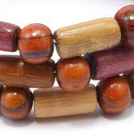 TICA SURF Unique exotic wood memory wire bracelet - Multicolor micro bars - EE17309 - TicaSurf USA