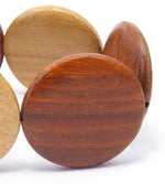TICA SURF Unique exotic wood bracelet - Large Flat Rounds M - EE1750 - TicaSurf USA