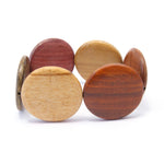 TICA SURF Unique exotic wood bracelet - Large Flat Rounds M - EE1750