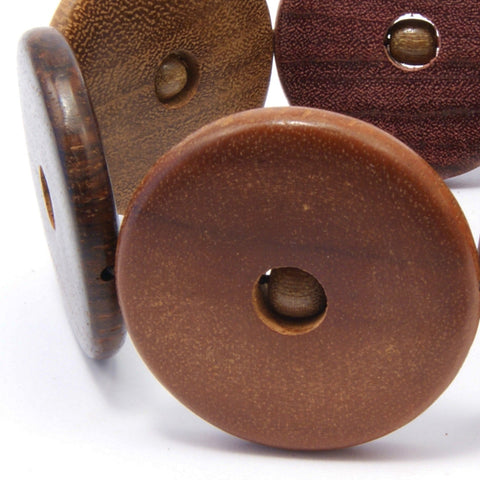TICA SURF Unique exotic wood cuff bracelet - Multicolor wheels L