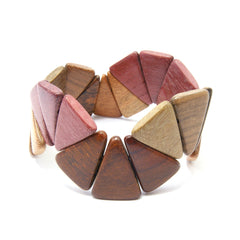 TICA SURF Unique exotic wood cuff bracelet - Narrow spikes L - EE1839