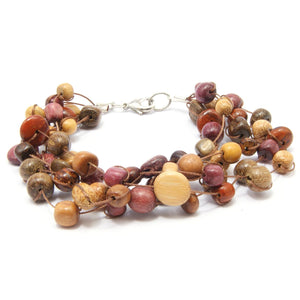 TICA SURF Unique exotic wood cuff bracelet - Loose Busy Beads - EE1903