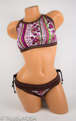 Tica Surf Halter Top / Cheeky  Bottom L - TS59 - TicaSurf USA