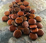 Flat Round Wood Beads FR10 - 10 Pieces - See all colors
