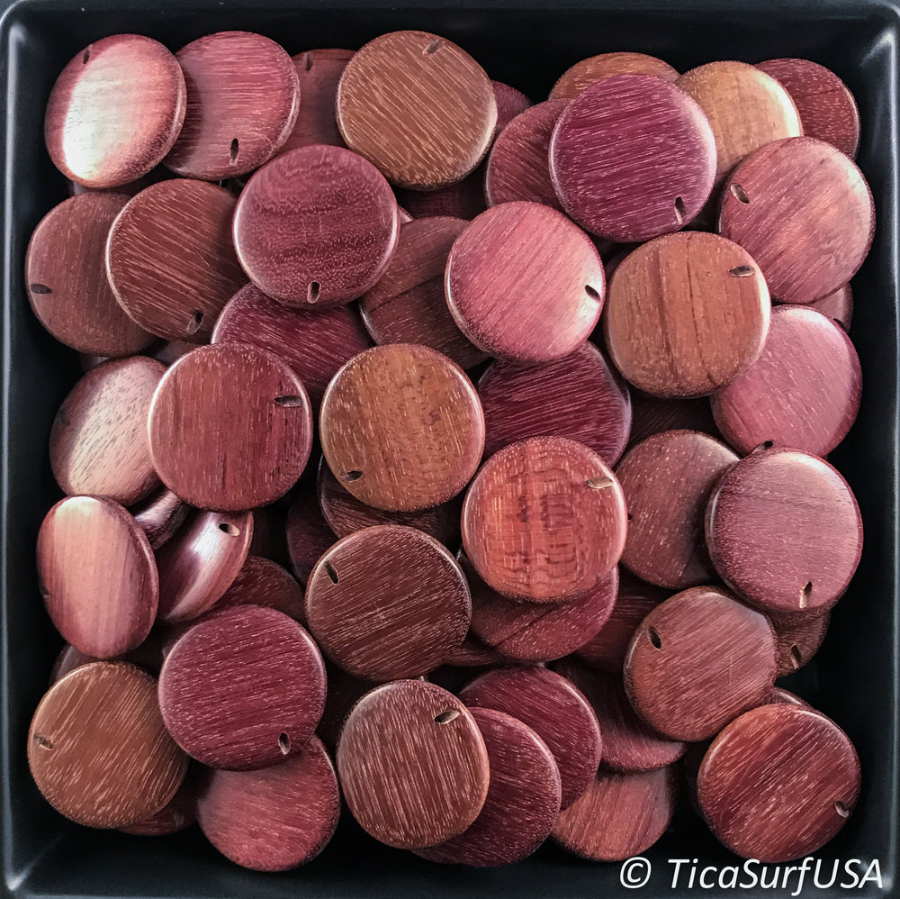 Flat Round Wood Beads FR13 - 10 Pieces - See all colors