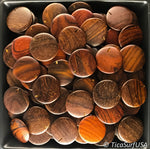 Flat Round Wood Beads Unstained Polished Lacquered Handcrafted FR13A Rosewood - 10 Count - TicaSurf USA