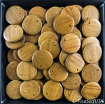 Flat Round Wood Beads FR15 - 10 Pieces - See all colors