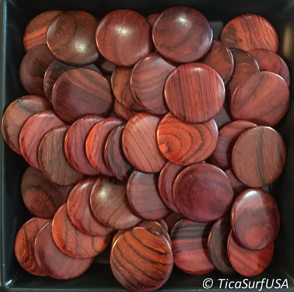 Flat Round Wood Beads FR16 UNDRILLED - 10 Pieces - See all colors