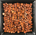 Flat Square Wood Beads RF20 - 10 Pieces - See all colors