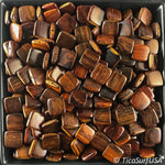 Flat Square Wood Beads Unstained Polished Lacquered Handcrafted RF21A Rosewood - 10 Count - TicaSurf USA