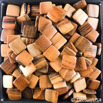 Flat Square Wood Beads RF22 - 10 Pieces - See all colors