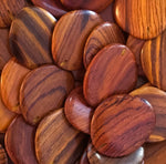 Flat Irregular Oval Wood Beads RO31 - 10 Pieces - See all colors
