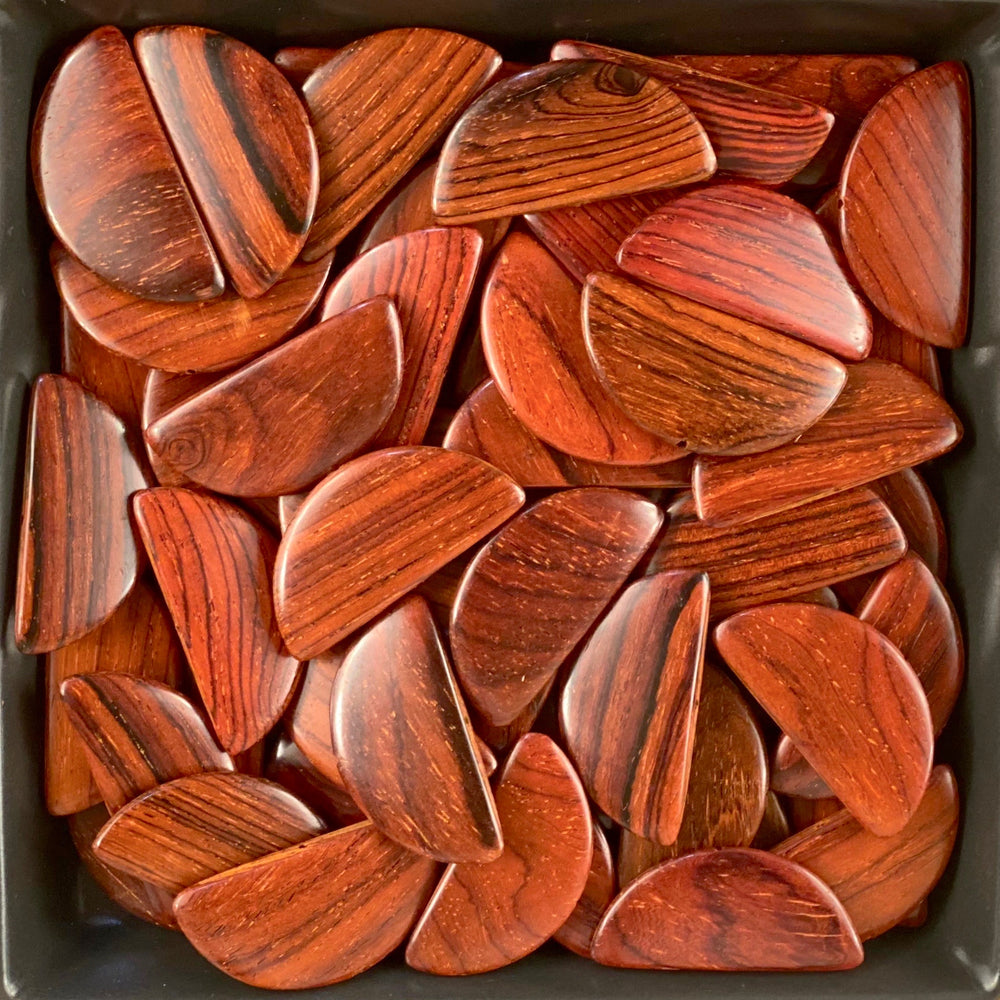 Half Moon Wood Beads RO34 - 10 Pieces - See all colors