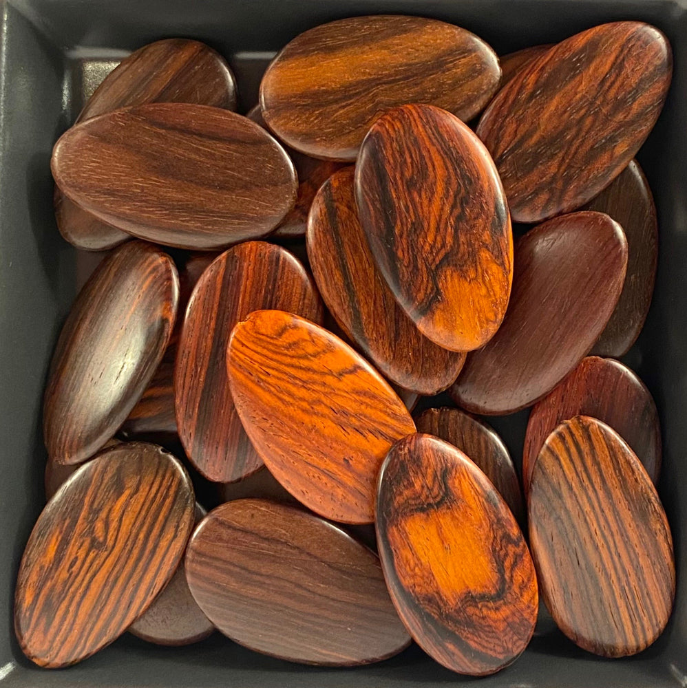 Flat Oval Arrow Wood Beads RO38S - 10 Pieces - See all colors