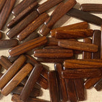 Rectangular Section Bar Wood Beads Rosewood