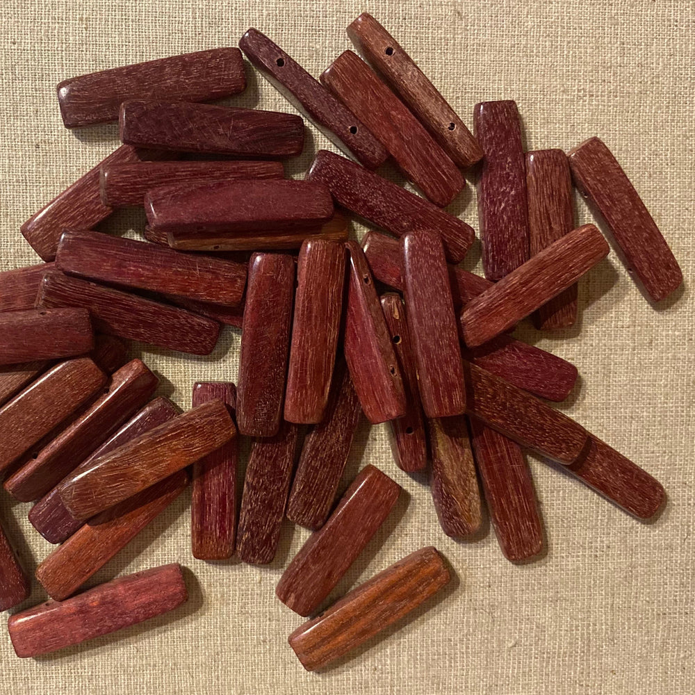 Rectangular Section Bar Wood Beads Purpleheart