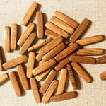 Rectangular Section Bar Wood Beads Fustic