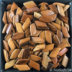 Trapezoid Wood Beads Unstained Polished Lacquered Handcrafted AF39D Tigerwood - 10 Count - TicaSurf USA