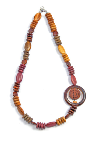 TICA SURF Unique string exotic wood necklace - Side Eye - EE2204