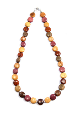 TICA SURF Unique exotic wood necklace - Simple Small Rounds - EE314