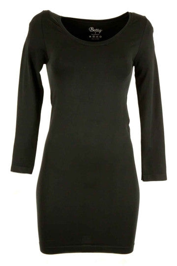 SOLD OUT Betty Basics Bodycon Scoop Dress Long Sleeve Black