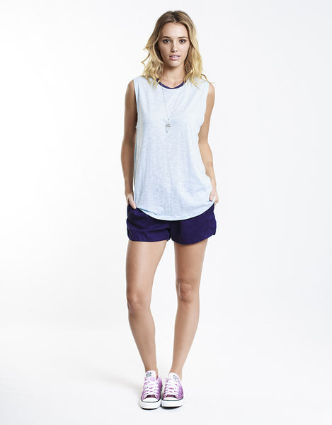 All About Eve Groupie Short Navy