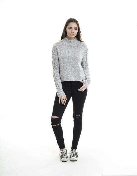 Forever Knit Grey Marle Jumper  by All About Eve