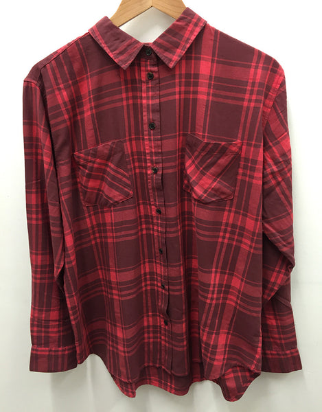Mariah Red Check Shirt by All About Eve