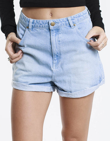 All About Eve Short Halle A-Line Bleach Blue