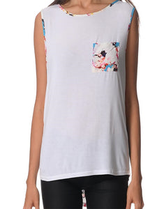 Cotton Floral Elements sleeveless top