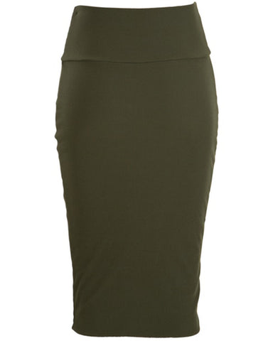 Metalicus Lexi Tube Skirt - Khaki