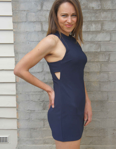 Jorge Body Party Dress- Navy