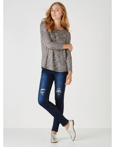 Long Sleeve Textured Knit