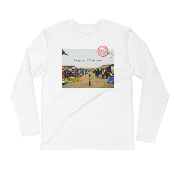 Commerce Postcard Long Sleeve Fitted Crew