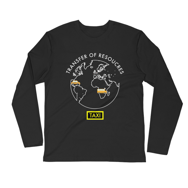 Mode of Transportation Long Sleeve Fitted Crew